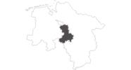 Karte der Reiseziele in Mittelweser