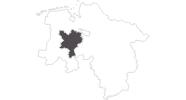 Karte der Reiseziele im Oldenburger Münsterland