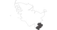 Karte der Reiseziele im Herzogtum Lauenburg