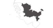 Karte der Reiseziele an der Ostsee und Holsteinische Schweiz