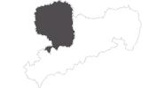 Karte der Reiseziele Sächsisches Burgen- und Heideland