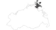 Karte der Wetter auf der Insel Rügen und Hiddensee