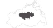 Karte der Reiseziele in der Mecklenburgische Schweiz