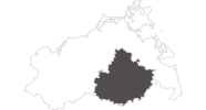 map of all travel guide on the Mecklenburgische Seenplatte