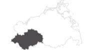 Karte der Reiseziele in Mecklenburg-Schwerin