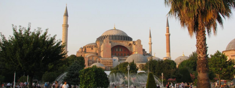 Blick auf die Hagia Sophia in Istanbul