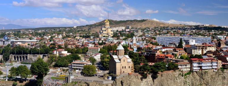 Blick auf die Hauptstadt Tiflis
