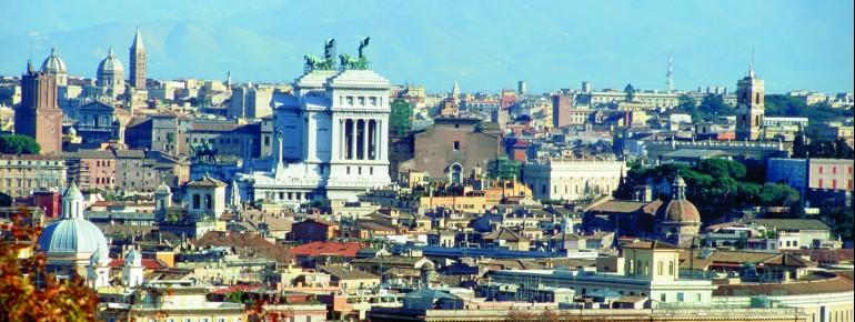 Blick über die Stadt Rom