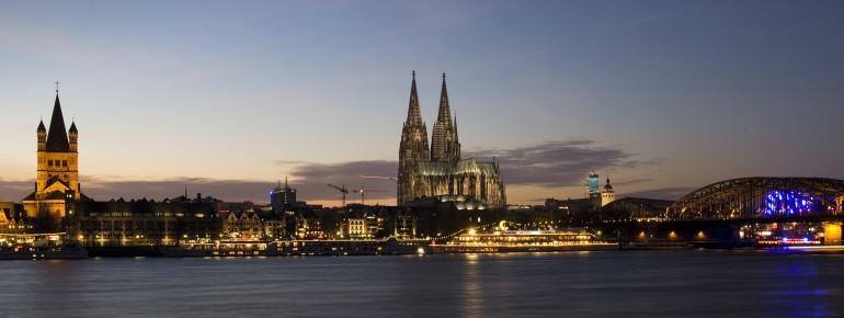 Köln, die größte Stadt Nordrhein-Westfalens.