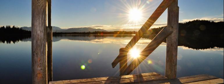 Abkühlung an heißen Sommertagen - die bayerischen Seen.