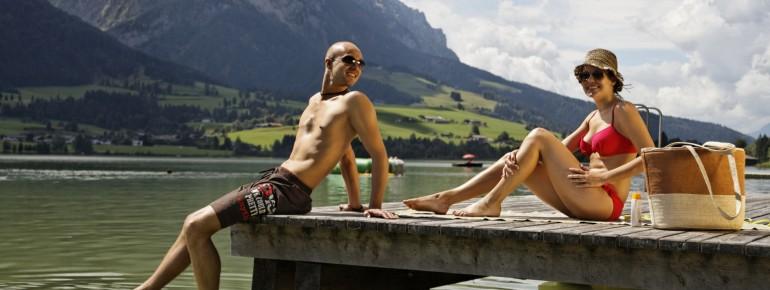 Klare Bergseen laden zum Schwimmen und Entspannen ein.