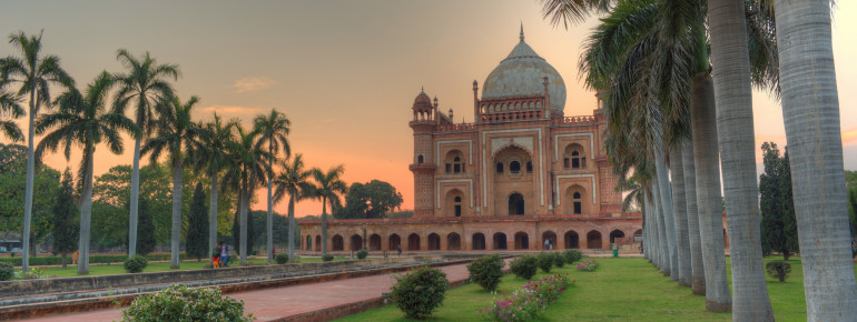 View of Safdarjung's Tomb in Delhi