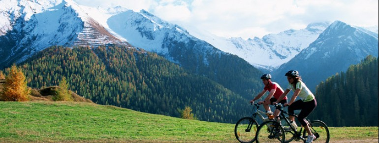 Radfahrer im Samnaun
