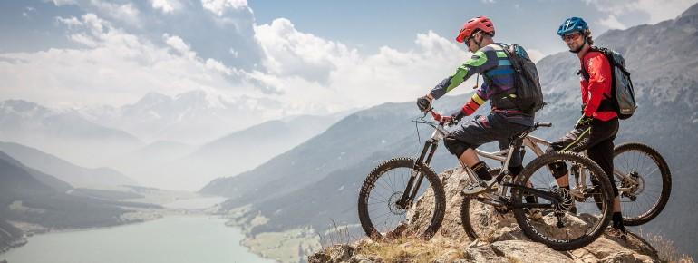 Erkunde die wunderschöne Bergwelt mit dem Bike!