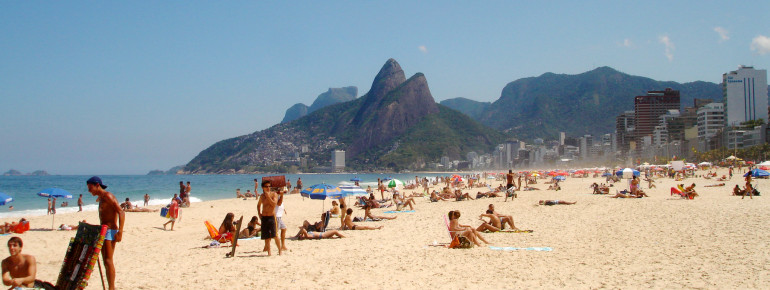 Der Strand von Ipanema in Rio de Janeiro