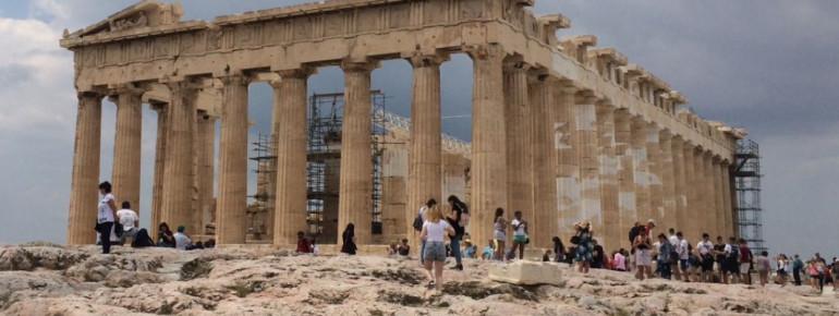 Der Parthenon-Tempel auf der Akropolis in Athen.