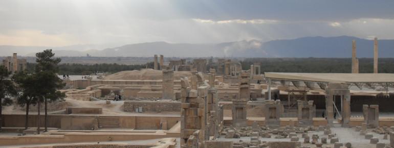 Die Überreste der antiken Hauptstadt Persepolis