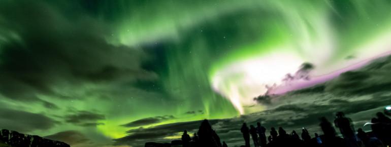 In den Wintermonaten sieht man mit viel Glück die mystischen Nordlichter.