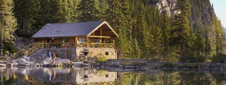 Teehaus am Lake Agnes im Banff National Park