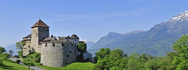 Das Schloss von Vaduz.