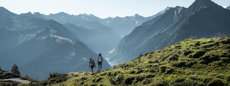 Im Zillertal warten rund 1.500 km Wanderwege.