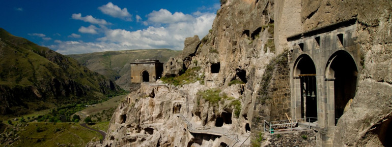 Cave monastery Vardzia is one of the most famous attractions in Georgia.