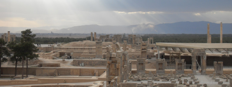 Remains of the ancient capital Persepolis