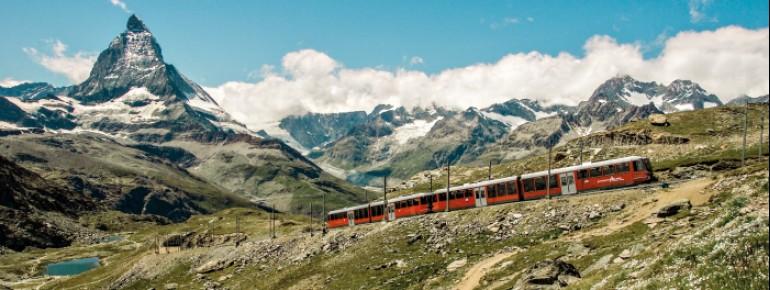Die Gornergratbahn in Zermatt