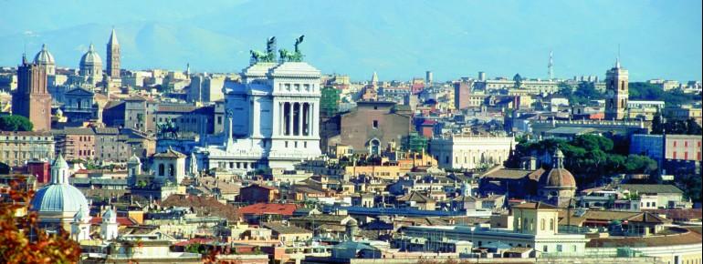 Blick auf die Stadt Rom