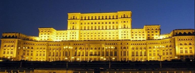 Der Parlamentspalast in Bukarest